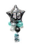 Balloon Arrangement 40Th Birthday Tall Topiary With Foil 143