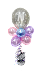 Balloon Arrangement 70Th Birthday Girl Tall Topiary With Printed Balloon 145