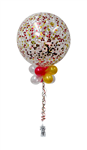 Balloon Arrangement 90Cm Latex Confetti With Topiary 178