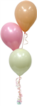 Balloon Arrangement Pastel Girl 3 Balloons 111