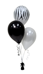 Balloon Arrangement Zebra Print 3 Balloons 177