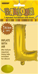 BALLOON FOIL 14 GOLD L  SelfInflating