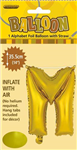 BALLOON FOIL 14 GOLD M  SelfInflating