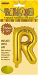 BALLOON FOIL 14 GOLD R  SelfInflating