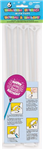 Balloon Sticks  Cups White 6 Pack