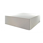 Cake Box Corrugated White 12X12x4
