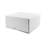 Cake Box Corrugated White 6X6x3
