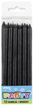 Candles Black Long 12 Pack