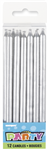 Candles Silver Long 12 Pack