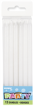 Candles White Long 12 Pack