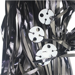 Clipped Ribbons Metallic Black 25 Pack