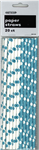 Dots Paper Straws Teal 20 Pack