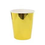 Five Star Paper Cup Metallic Gold 260ml 10 Pack