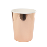 Five Star Paper Cup Metallic Rose Gold 260ml 10 Pack