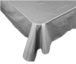 Five Star Table Cover Rectangular Metallic Silver