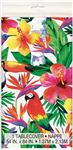 Luau Palm Tropical Tablecover Plastic Rectangle