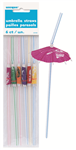 Luau Straws Umbrella 6 Pack