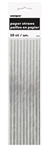 Silver Foil Paper Straws 10 Pack